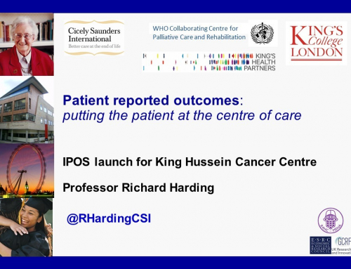 King Hussein Cancer Centre to implement the Integrated Palliative Outcome Scale (IPOS)